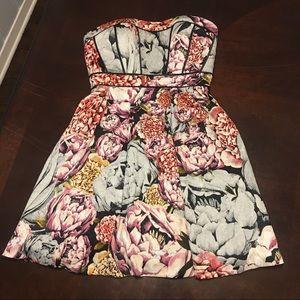 Jessica Simpson floral jacquard cocktail dress